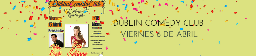Dublin Comedy Club Abril 2018